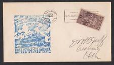 PORTORICO Letter from the US Office First viaggio of the company SS AMERICA 1940