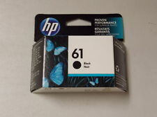 HP #61 CH561WN Genuine Black Ink Cartridge New Sealed Retail Box April 2019