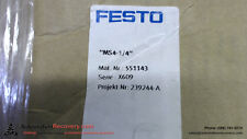 FESTO MS4-LR-1/4-D6-VS WITH ATTACHED PART NUMBER MS4-FRM-1/4, NEW #115612
