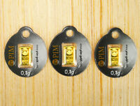 Goldbarren 3 Stück á 0,10 Gramm -PIM Gold Barren 0,1g 0,10g 0,3g 999,9 LBMA NEU