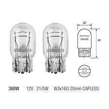 2 x 380W W21/5W Capless Brake Stop & Tail Light Bulb 580 12v 21/5w Twin Filament