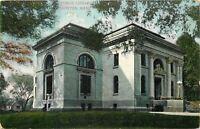 Taunton MA~Fancy Pillars, Cornices on Public Library~1909 Postcard