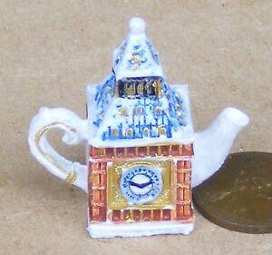 1 Teile Big Ben Keramik Dekorative Teekanne Tumdee 1:12 Maßstab Puppenhaus 4696