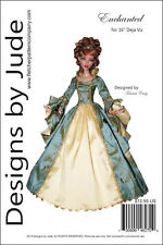 """Enchanted Doll Clothes Sewing Pattern for 16"""" Deja Vu Dolls Tonner"""