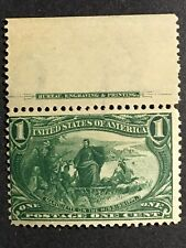 1898 US Stamp 1 cent Trans- Miss. Sc# 285 MNH w plate selvage NICE!