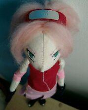 OOAK Sakura Haruno, Naruto, Handmade Art Doll, Cloth , Anime