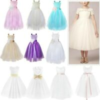 Flower Girl Princess Dress Party Wedding Pageant Bridesmaid Tutu Formal Dresses