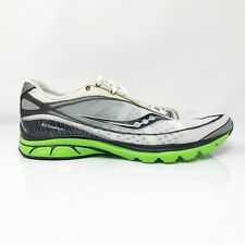 Saucony Mens Kinvara 20072-7 White Black Running Shoes Lace Up Low Top Size 13