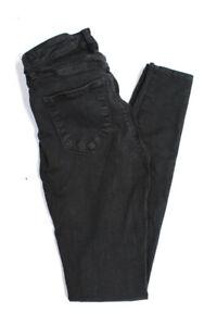 L'Agence Women's Skinny Jeans Cotton Black Size 24