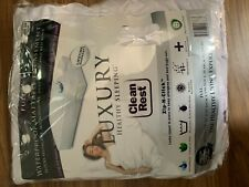 Clean Rest - Luxury Waterproof Full Size Mattress Pad Cover Protector