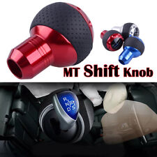 Red 5 Speed Car Truck Gear Shift Knob MT Leather Shifter Lever Stick Universal
