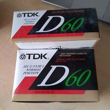 TDK D 60ES CASSETTE VERGINI NOS VINTAGE 10 PEZZI