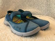 EUC DANSKO WOMENS BLUE LEATHER MARY JANE SHOE SZ EU 37/US 7