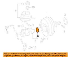 Mercedes-Benz 0014313360 Brake Master Cylinder o-ring