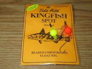24 KINGFISH SPOT RIGS TIDE RITE R257 BEADED 2 DROP FLOAT SALTWATER RIG FISHING