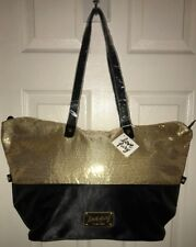 406c2ae4a Nine West Love Fury Tote Bag Black with Gold Sequins. NEW WITH TAGS
