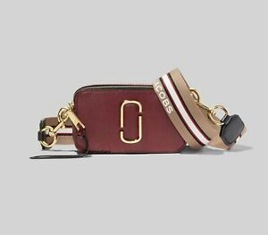 Brand new MARC JACOBS Snapshot Small Camera Bag NEW CRANBERRY MULTI  bag sales