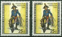 2 x Berlin Nr. 131 sauber postfrisch Tag der Briefmarke 1955 Feldpostillion MNH