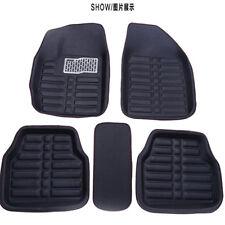 5pc Universal Car Floor Mats FloorLiner Front&Rear Carpet All Weather Mat Black