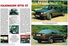 PUBLICITE ADVERTISING 095  1984  la VOLKSWAGEN  JETTA GT (2 pages)