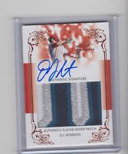 2013 Leaf Trinity DJ PETERSON Jumbo Vertical Patch Auto On Card Autograph RC RPA