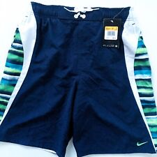 Nike Mens Small Swim Trunks Vapor Glow Splice Blue New With Tags