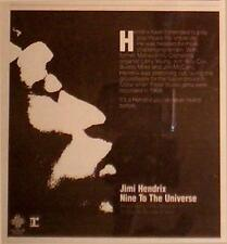 "1980 JIMI HENDRIX ""NINE TO THE UNIVERSE"" ALBUM PROMO AD"