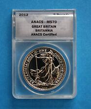 GREAT BRITAIN -  2012 Silver Britannia - ANACS MS70