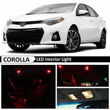 2015 & up Toyota Corolla Red Interior LED Light Package Kit