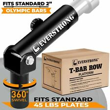 EVERSTRONG T Bar Row Olympic Bars - Gym Equipment for Landmine Attachment
