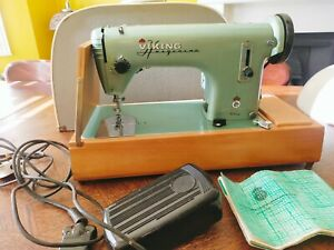 Vintage Viking/ Husqvarna electric sewing machine with case - 50's, series 71