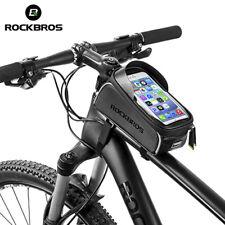 RockBros MTB Bike Waterproof Front Tube Cycling Bag 6.0''touchscreen Phone Case