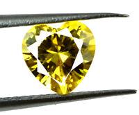 Natural Ceylon 2.20 Ct Yellow Sapphire Loose Gemstone Heart Shape AGSL Certified