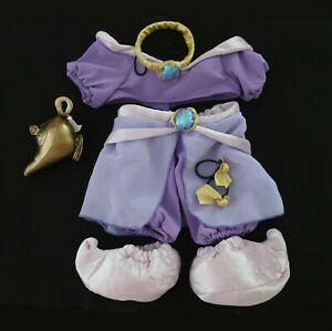 Build-A-Bear DISNEY JASMINE COSTUME w GENIE LAMP, SLIPPERS Teddy Complete Outfit