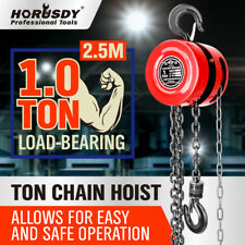 1 Ton Block and Tackle 2.5M Chain Block Hoist Crane Chain Lifting Pulley Tool