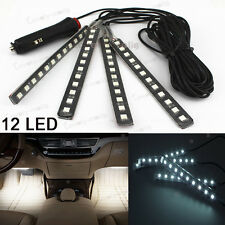 White 12LED Interior Kit Glow Under Dash Foot Well Seats Inside For Vauxhall