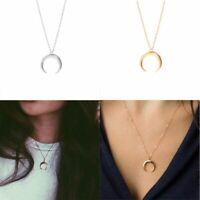 Bohemia Statement Bib Jewelry Crescent Moon Pendant Horn Chain Necklace Choker