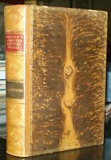 BEAUTIFUL TREE CALF BINDING, 1906, THE POETICAL WORKS OF OLIVER WENDELL HOLMES