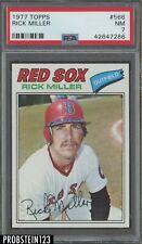 1977 Topps #566 Rick Miller Boston Red Sox PSA 7 NM