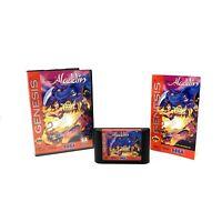 Disneys Aladdin (Sega Genesis 1993) Genuine CIB Complete in Box Cleaned & Tested