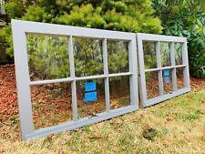 2 - 30 x 21 Vintage Window sash gray old 6 pane From 1948 Arts & Craft