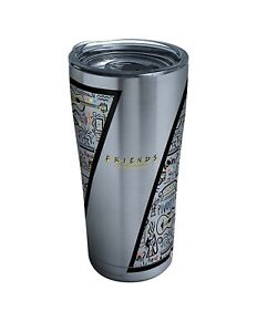 Friends Pattern Stainless Steel Insulated Tumbler with Clear and Black Hammer...