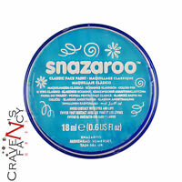 Turquoise Snazaroo 18ml Face & Body Paint Stage MakeUp Fancy Dress Costume New