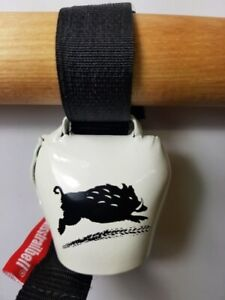 """Swisstrailbell  Fahrradklingel BlackForest Edition weiß: """"Be Wild"""", Trailbell,"""