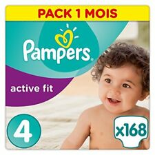 Pampers Active Fit Taille 4 8 a 16kg 168 couches