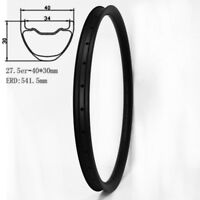 Carbon Mountain Bike Rim 650B 40mm Wide 30mm Depth 28/32Hole Tubeless UD MTB 1pc