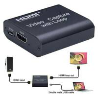 4K HD 1080P 60fps HDMI Video Capture Card USB 2.0 Mic Game Record Live Streaming