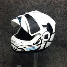 "1/6 scale Star Wars Motorcycle Biker Helmet visor White Fit 12"" figure body toys"
