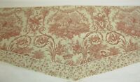 """Country Curtains Valance French Country Twill Tiered 76"""" x 17"""" Made in USA"""