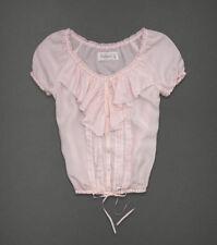 Abercrombie Fitch Womens Light Pink Silk Top Shirt Blouse XS X-Small $78